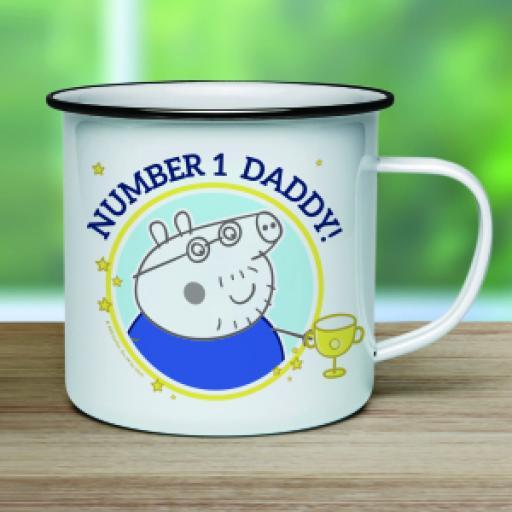"Peppa Pigâ""¢ Number 1 Daddy Enamel Mug"