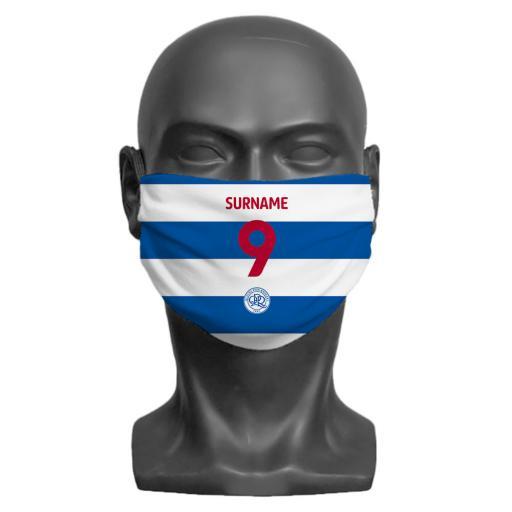 Queens Park Rangers FC Back of Shirt Adult Face Mask (Medium)