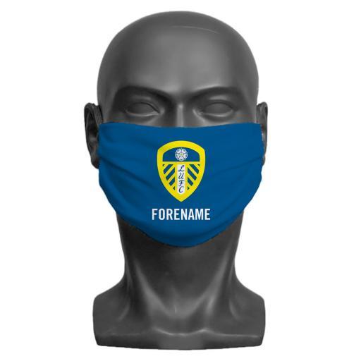 Leeds United FC Crest Adult Face Mask (Medium)