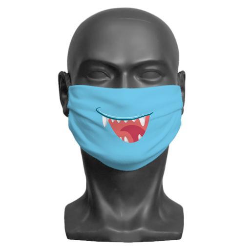 Little Monster Children's Face Mask (Blue)