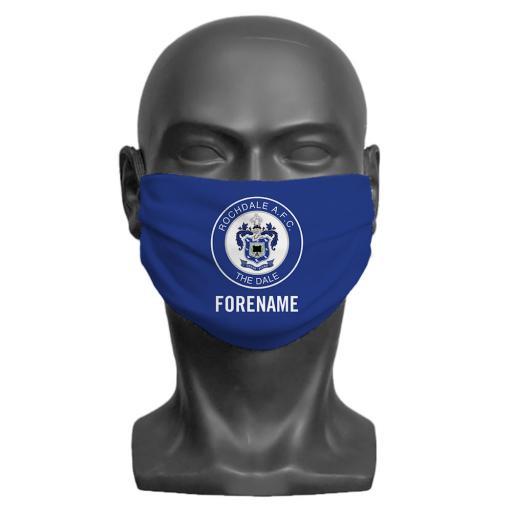 Rochdale AFC Crest Adult Face Mask (Medium)