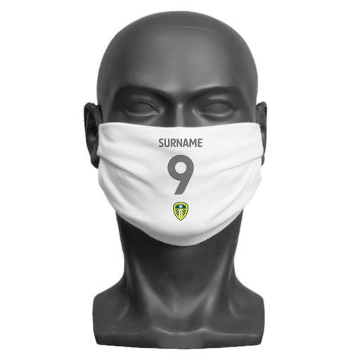 Leeds United FC Back of Shirt Adult Face Mask (Medium)