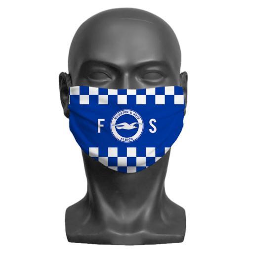 Brighton & Hove Albion FC Initials Adult Face Mask (Medium)