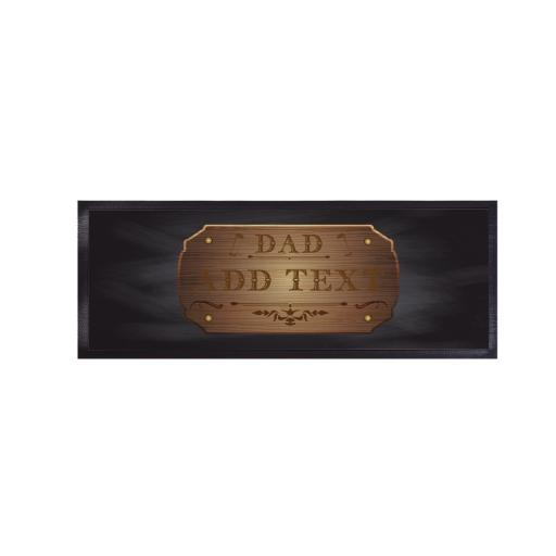 Wood Badge Dad - Bar Runner - Regular