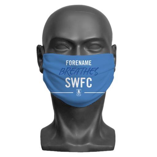 Sheffield Wednesday FC Breathes Adult Face Mask (Medium)