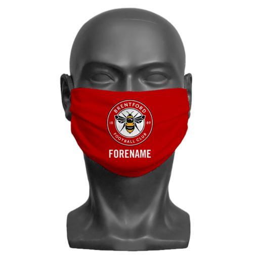 Brentford FC Crest Adult Face Mask (Medium)