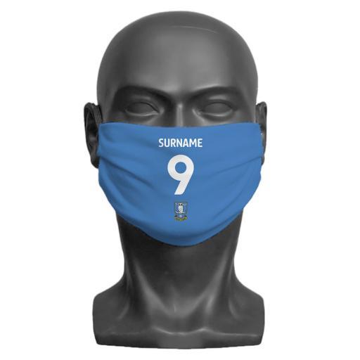 Sheffield Wednesday FC Back of Shirt Adult Face Mask (Medium)