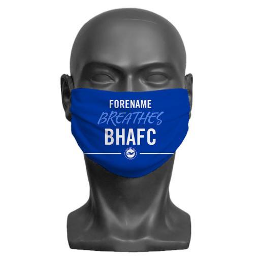 Brighton & Hove Albion FC Breathes Adult Face Mask (Medium)