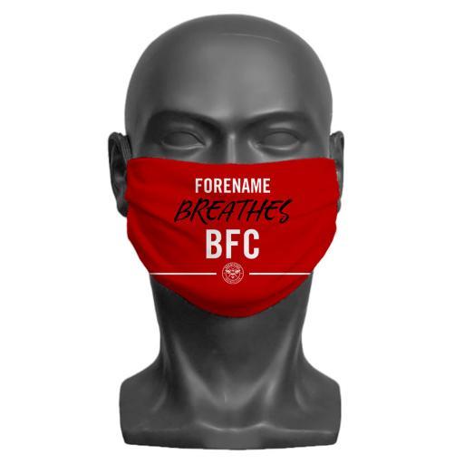 Brentford FC Breathes Adult Face Mask (Medium)