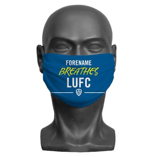 Leeds United FC Breathes Adult Face Mask (Medium)
