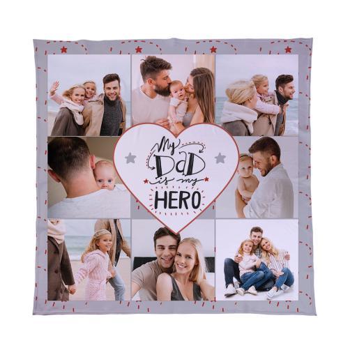 Personalised Dad Hero - 8 Photo - Fleece.