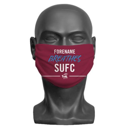 Scunthorpe United FC Breathes Adult Face Mask (Medium)