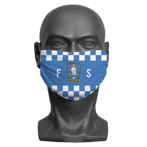 Sheffield Wednesday FC Initials Adult Face Mask (Medium)