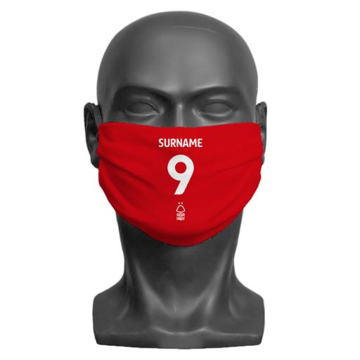 Nottingham Forest FC Back of Shirt Adult Face Mask (Medium)