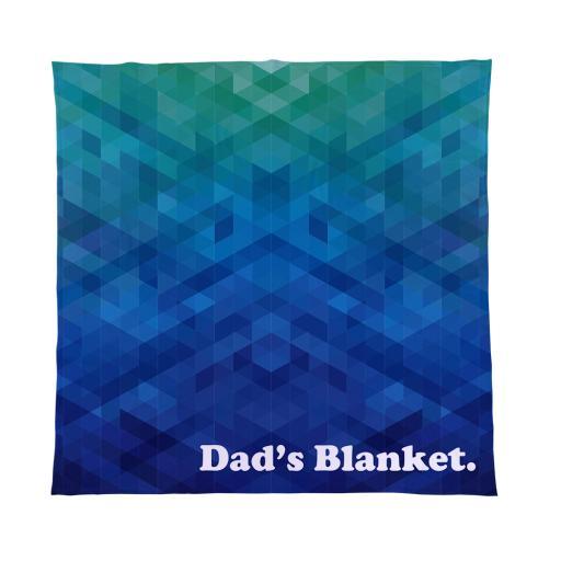 Personalised Dads Blanket - Fleece Blanket.