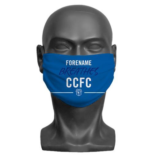 Cardiff City FC Breathes Adult Face Mask (Medium)