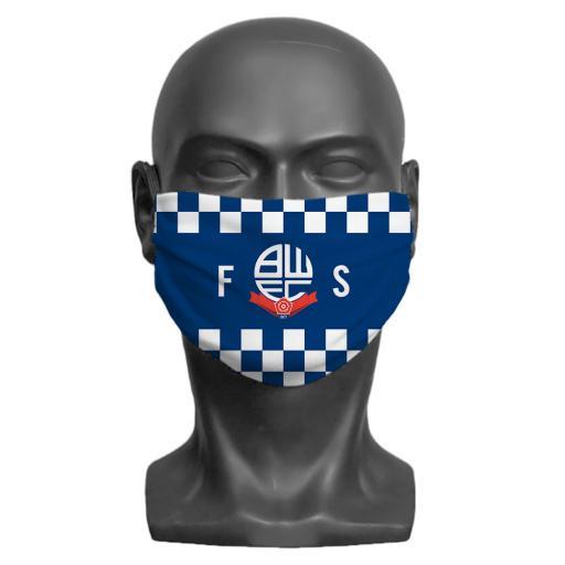 Bolton Wanderers FC Initials Adult Face Mask (Medium)