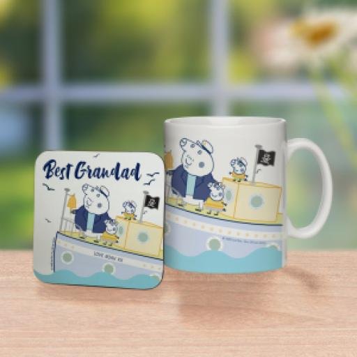 "Peppa Pigâ""¢ Best Grandad Mug & Coaster"