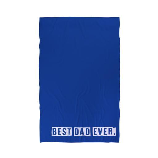 Personalised Best Dad Ever - Beach Towel.