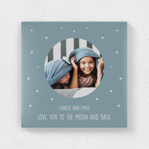 Personalised Square Canvas - To the Moon and back.