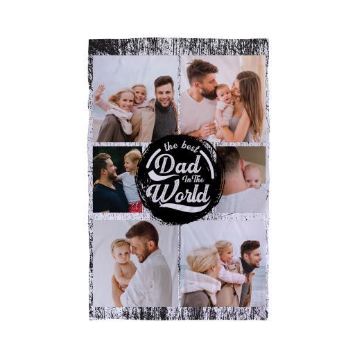 Personalised Best Dad Grunge - 6 Photo - Beach Towel.
