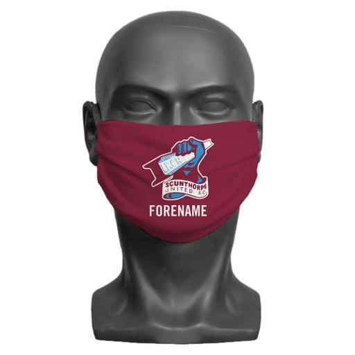 Scunthorpe United FC Crest Adult Face Mask (Medium)