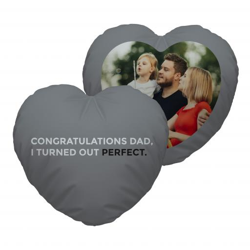 Congrats Dad - Photo - Heart Cushion