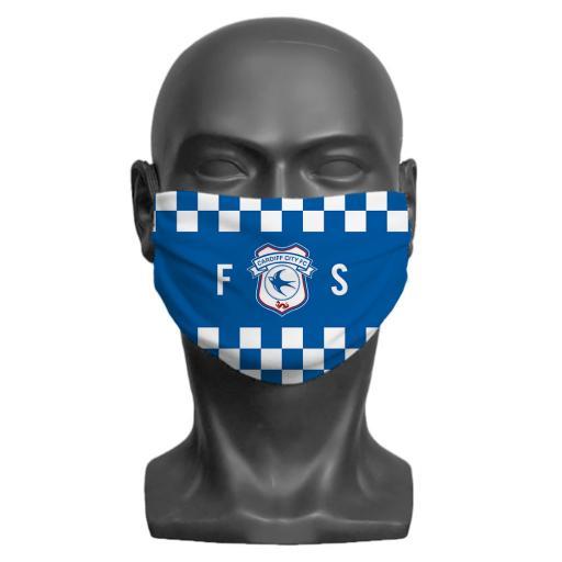 Cardiff City FC Initials Adult Face Mask (Medium)