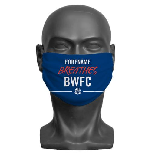 Bolton Wanderers FC Breathes Adult Face Mask (Medium)