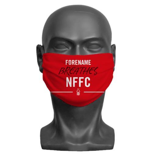 Nottingham Forest FC Breathes Adult Face Mask (Medium)