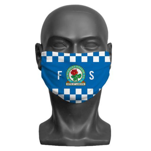 Blackburn Rovers FC Initials Adult Face Mask (Medium)