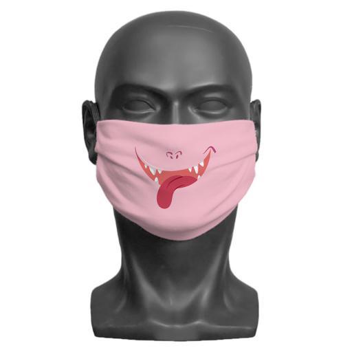 Little Monster Children's Face Mask (Pink)