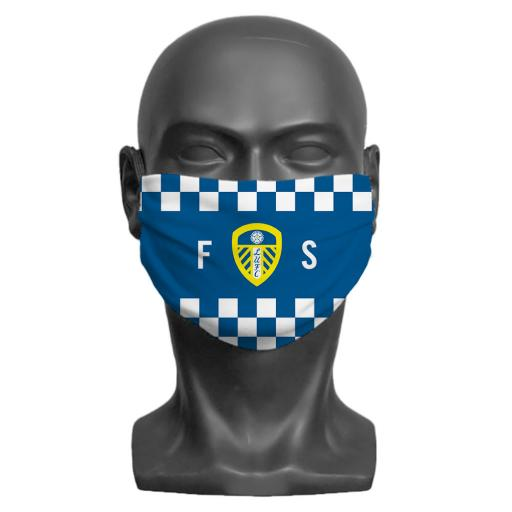 Leeds United FC Initials Adult Face Mask (Medium)