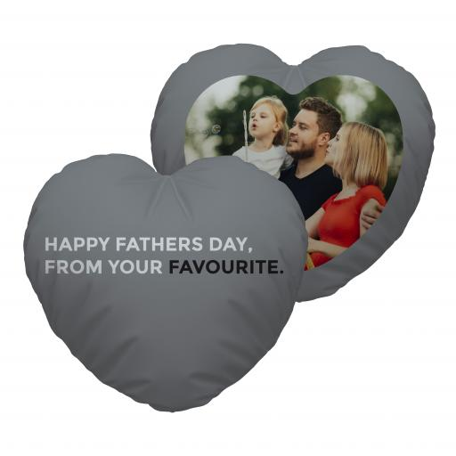 Fathers Favourite - Photo - Heart Cushion