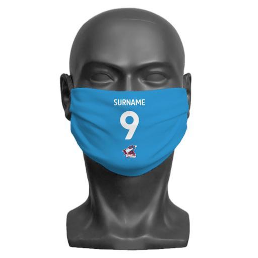 Scunthorpe United FC Back of Shirt Adult Face Mask (Medium)