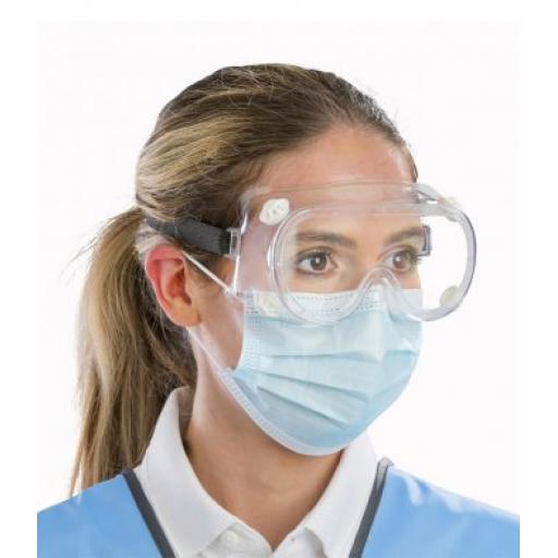 Pack of 5 - Result Disposable Medical Splash Goggles