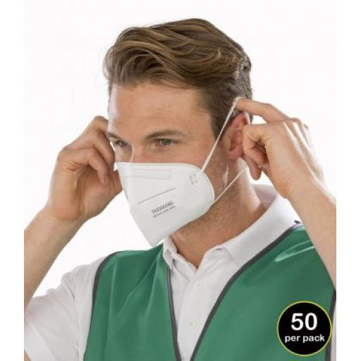Pack of 50 - Result FFP2 4-Ply Disposable Respirator Mask