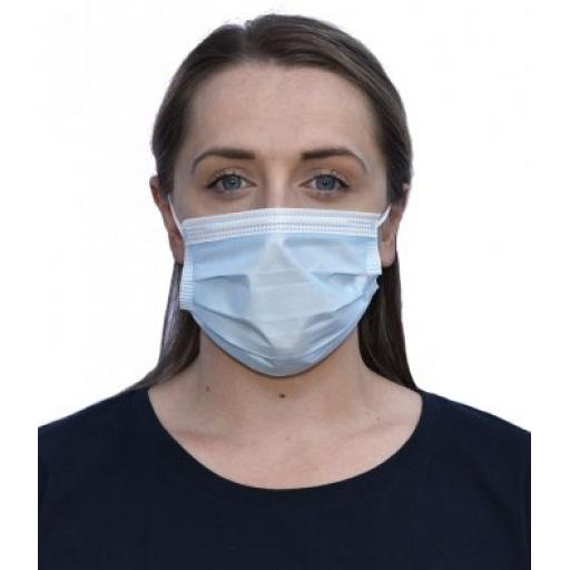 Pack of 50 - Regatta Type IIR 3-Ply Disposable Medical Mask