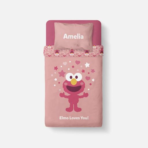 Personalised Bedding - Elmo Loves You.