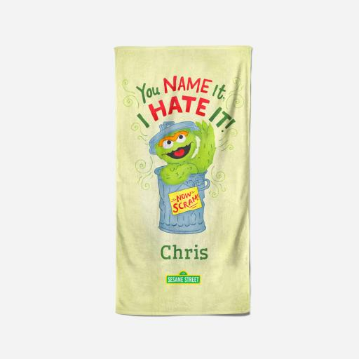 Personalised You Name It I Hate It - 70 x 140 Towel.