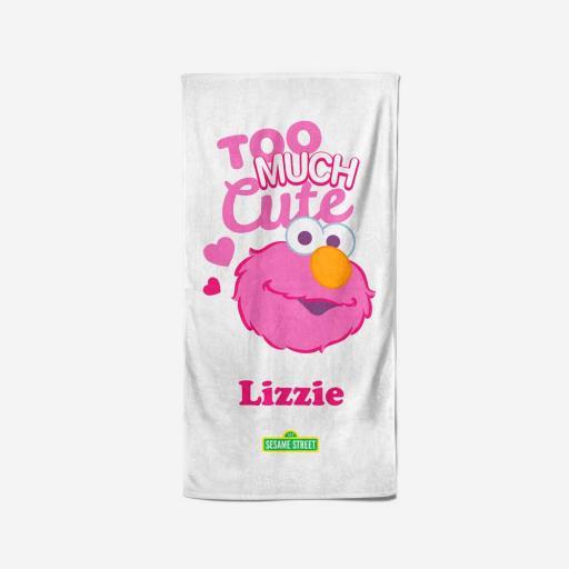 Personalised Too Much Cute - 70 x 140 Towel.
