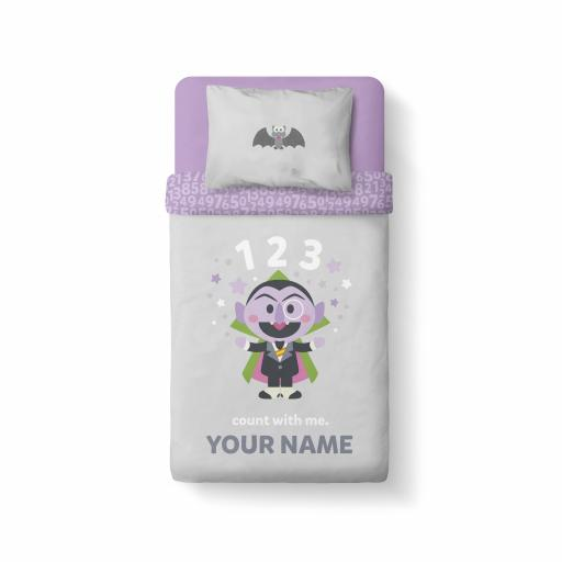 Personalised Sesame Street - Count with Me - Bedding.