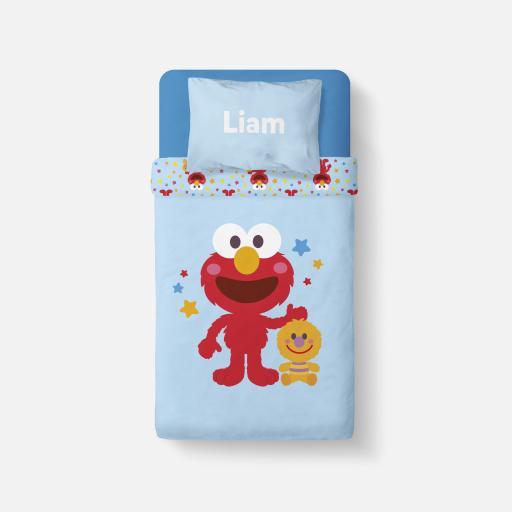 Personalised Bedding - Elmo Star Pattern.