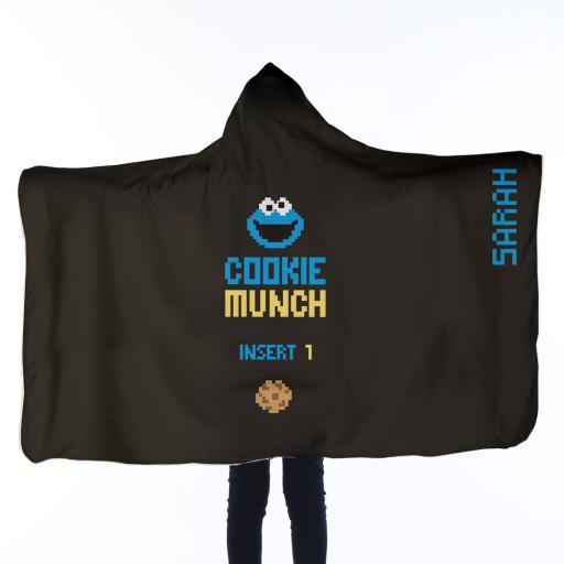 Personalised Kids Hooded Blanket - Cookie Munch.