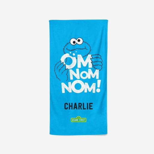 Personalised Om Nom Nom - Towel - 70 x 140.