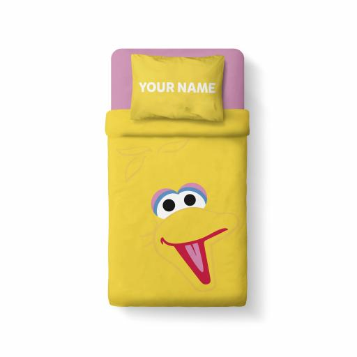 Personalised Sesame Street - Features Big Bird - Bedding.