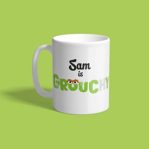 Personalised Oscar The Grouch Mug - Grouchy.