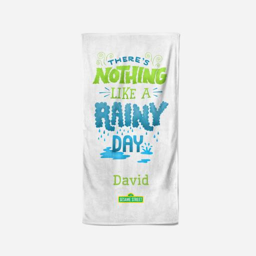 Personalised Rainy Day - 70 x 140 Towel.
