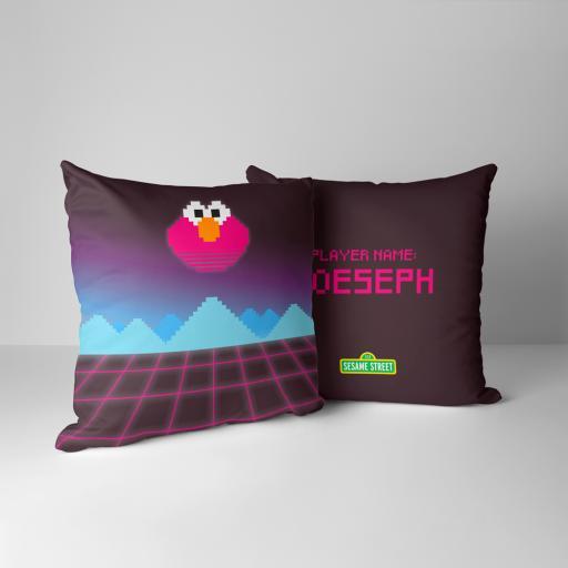 Elmo Personalised Cushion - Arcade
