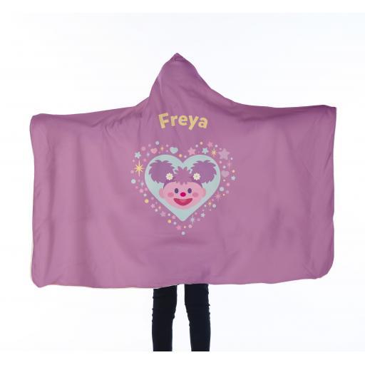 Personalised Sesame Street Kids Hooded Blanket - Abby.